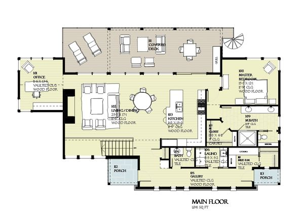 Cabin Floor Plan - Main Floor Plan Plan #901-129