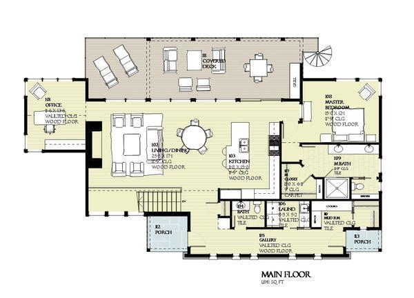 Cabin Floor Plan - Main Floor Plan Plan #901-129