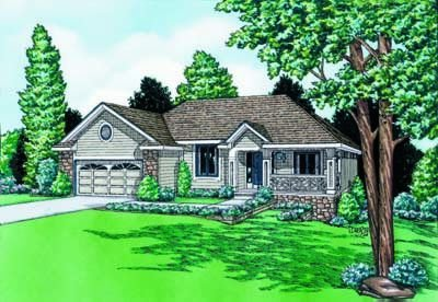 Traditional Exterior - Front Elevation Plan #20-489 - Houseplans.com
