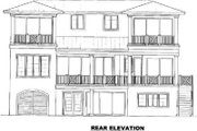 Cottage Style House Plan - 3 Beds 3 Baths 2905 Sq/Ft Plan #27-249 Exterior - Rear Elevation