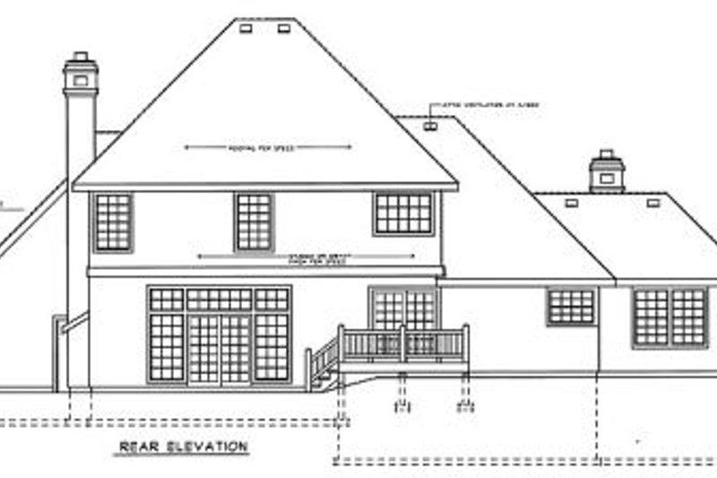 European Exterior - Rear Elevation Plan #92-204 - Houseplans.com
