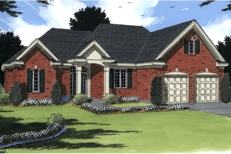 Country Exterior - Front Elevation Plan #46-678