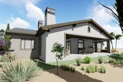Adobe / Southwestern Style House Plan - 3 Beds 3.5 Baths 3546 Sq/Ft Plan #1069-22 Exterior - Rear Elevation