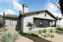 Architectural House Design - Adobe / Southwestern Exterior - Rear Elevation Plan #1069-22