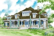 Country Style House Plan - 3 Beds 3.5 Baths 3528 Sq/Ft Plan #930-10 Exterior - Front Elevation