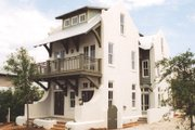 Mediterranean Style House Plan - 4 Beds 4 Baths 2831 Sq/Ft Plan #536-6 Exterior - Front Elevation