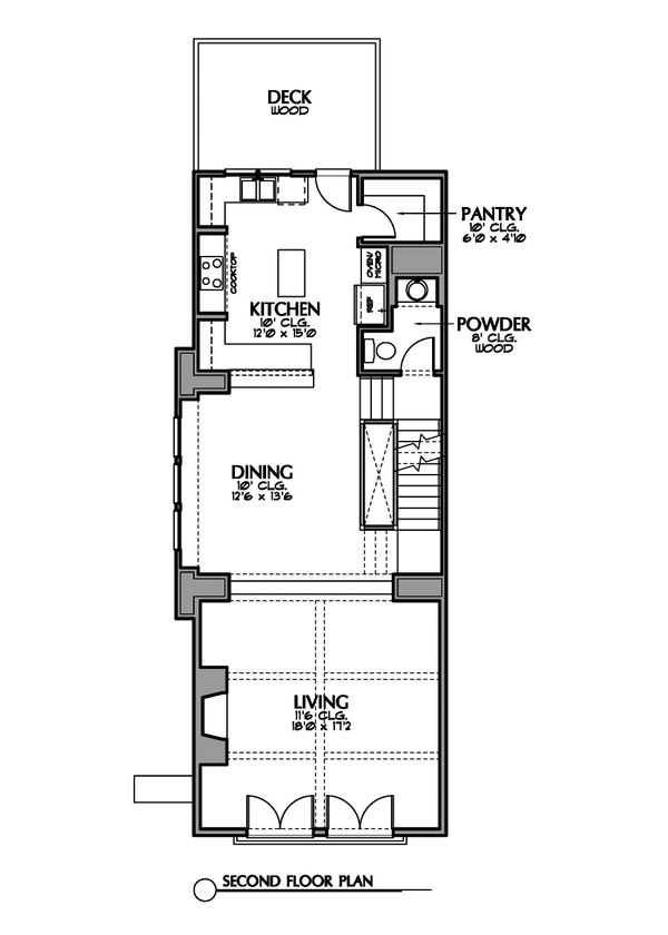 Mediterranean Floor Plan - Main Floor Plan Plan #449-19