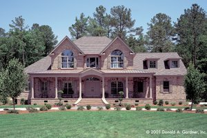 Country Exterior - Front Elevation Plan #929-12