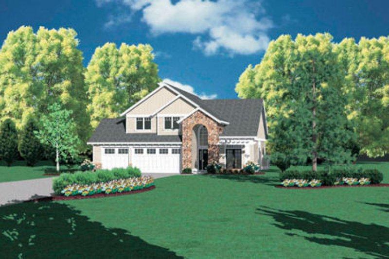 European Exterior - Front Elevation Plan #48-335 - Houseplans.com