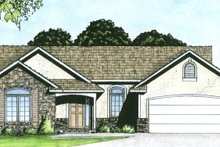 House Plan Design - Traditional Exterior - Front Elevation Plan #58-162