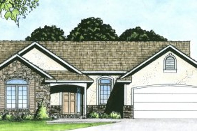 Dream House Plan - Traditional Exterior - Front Elevation Plan #58-162
