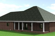 Southern Style House Plan - 3 Beds 2 Baths 2091 Sq/Ft Plan #44-142 Exterior - Rear Elevation