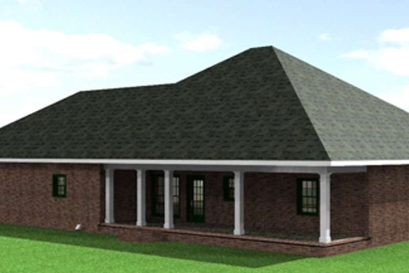 Southern Exterior - Rear Elevation Plan #44-142 - Houseplans.com