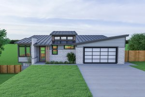Contemporary Exterior - Front Elevation Plan #1070-56