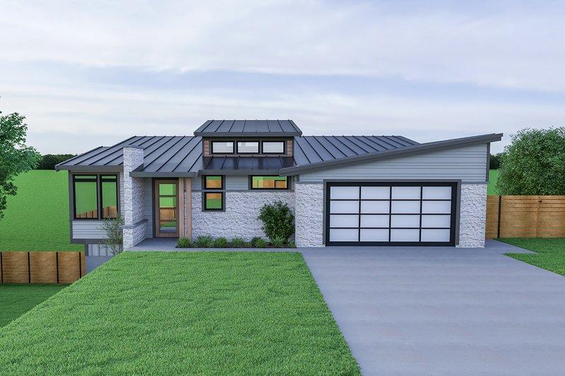 House Plan Design - Contemporary Exterior - Front Elevation Plan #1070-56