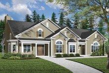 Dream House Plan - Mediterranean Exterior - Front Elevation Plan #23-2206