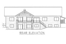 Dream House Plan - Farmhouse Exterior - Rear Elevation Plan #112-167