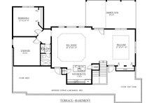 Craftsman Floor Plan - Lower Floor Plan Plan #437-60