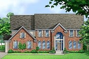 Colonial Style House Plan - 4 Beds 4.5 Baths 3906 Sq/Ft Plan #67-614 Exterior - Front Elevation