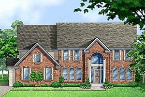 Colonial Exterior - Front Elevation Plan #67-614