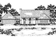 Home Plan - Traditional Exterior - Front Elevation Plan #36-158