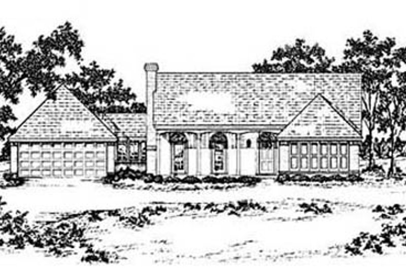 Traditional Exterior - Front Elevation Plan #36-158 - Houseplans.com
