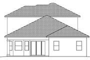 Mediterranean Style House Plan - 4 Beds 4 Baths 3012 Sq/Ft Plan #27-445 Exterior - Rear Elevation