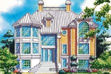 Architectural House Design - Mediterranean Exterior - Front Elevation Plan #930-75