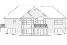 House Plan Design - Ranch Exterior - Rear Elevation Plan #124-1139