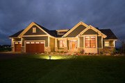 Craftsman Style House Plan - 1 Beds 1.5 Baths 1918 Sq/Ft Plan #51-351 Exterior - Front Elevation