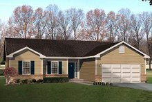 Ranch Exterior - Front Elevation Plan #22-534