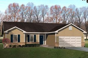 House Design - Ranch Exterior - Front Elevation Plan #22-534