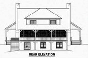 Country Style House Plan - 3 Beds 2.5 Baths 2200 Sq/Ft Plan #81-385 Exterior - Rear Elevation