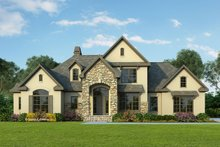 Dream House Plan - European Exterior - Front Elevation Plan #929-570