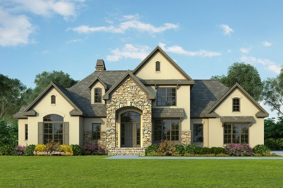 European Exterior - Front Elevation Plan #929-570