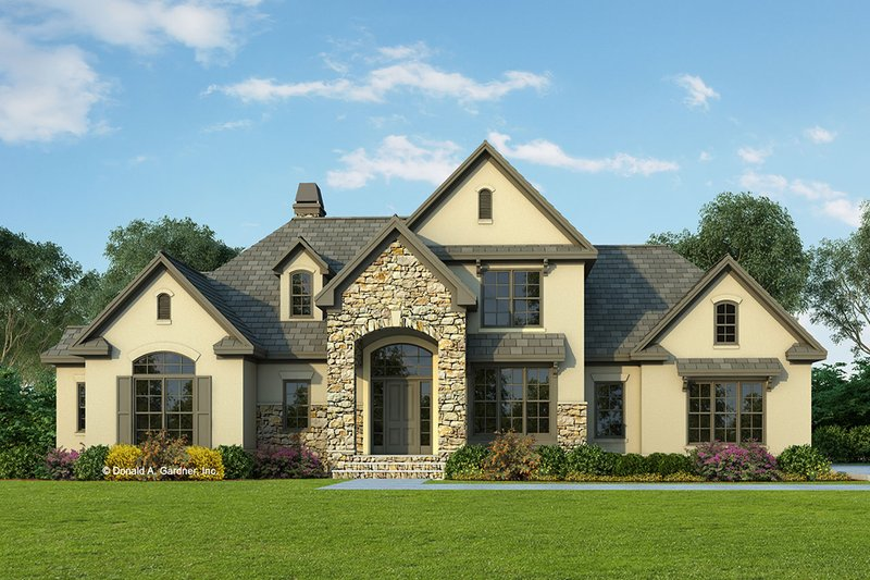 European Style House Plan - 4 Beds 3 Baths 2387 Sq/Ft Plan #929-570 Exterior - Front Elevation