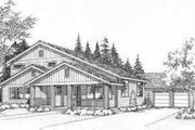 Traditional Style House Plan - 3 Beds 2.5 Baths 1931 Sq/Ft Plan #78-209 Exterior - Front Elevation