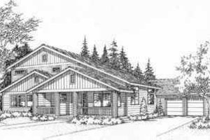 Traditional Exterior - Front Elevation Plan #78-209
