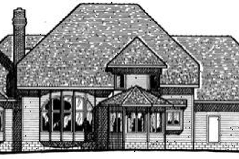 Southern Exterior - Rear Elevation Plan #20-202 - Houseplans.com