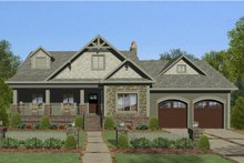 Dream House Plan - Craftsman Exterior - Front Elevation Plan #56-706