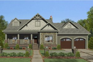 Craftsman Exterior - Front Elevation Plan #56-706
