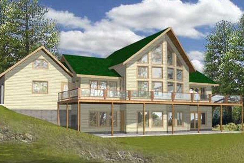 Dream House Plan - Modern Exterior - Front Elevation Plan #117-135