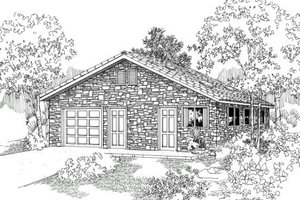 Dream House Plan - Traditional Exterior - Front Elevation Plan #124-629