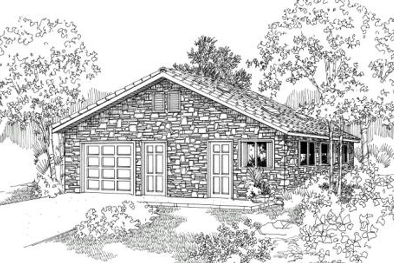 Traditional Exterior - Front Elevation Plan #124-629 - Houseplans.com