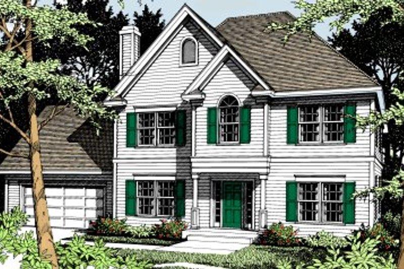 Colonial Exterior - Front Elevation Plan #93-209 - Houseplans.com