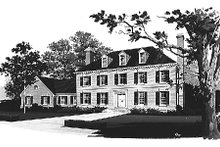 House Blueprint - Colonial Exterior - Front Elevation Plan #72-331