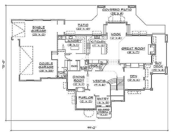 Home Plan - Traditional Floor Plan - Main Floor Plan #5-226