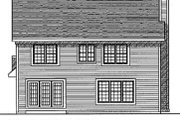 Traditional Style House Plan - 4 Beds 2.5 Baths 1856 Sq/Ft Plan #70-227 Exterior - Rear Elevation