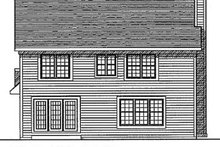 House Design - Traditional Exterior - Rear Elevation Plan #70-227