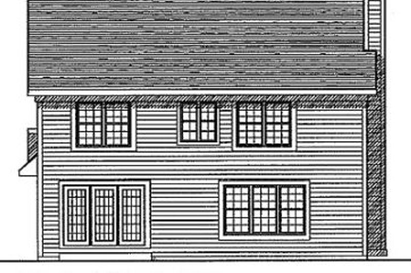 Traditional Exterior - Rear Elevation Plan #70-227 - Houseplans.com